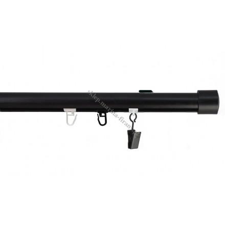 Szyna sufitowa fi 20 mm jednotorowa, czarna (SUW0018) - stal nierdzewna - aluminium