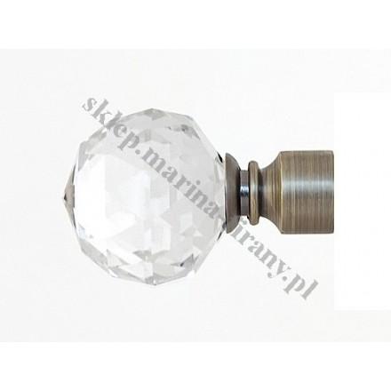 Końcówka Gral fi 16 patyna - Kula Crystal (Para)