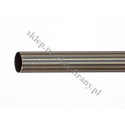 Drążek ryflowany Gral fi 16 patyna - 200cm