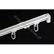 Szyna sufitowa ZS jednotorowa biała z agrafkami (ZS004)