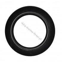 Przelotka KOŁO duża uniwersalna czarna połysk - średnica wewnętrzna 35,50 mm - 10 szt