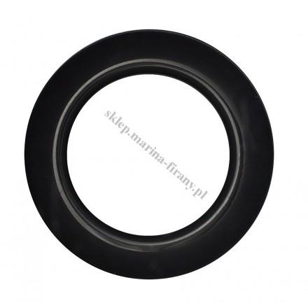 Przelotka KOŁO duża czarna połysk - średnica wewnętrzna 35 mm - 10 szt