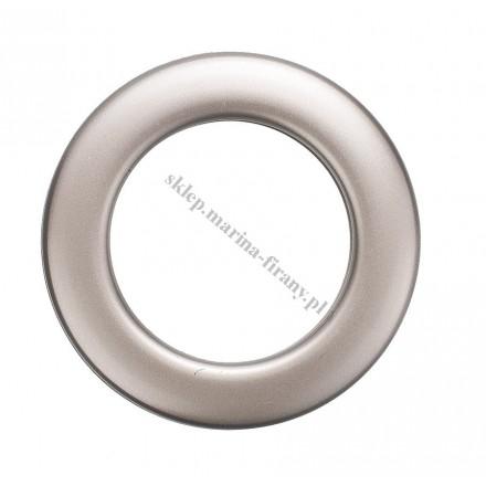 Przelotka KOŁO mała platyna mat - średnica wewnętrzna 20 mm - 10 szt