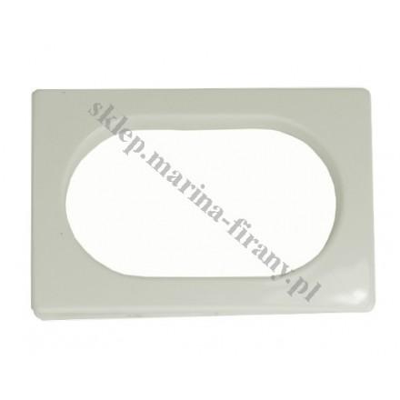 Przelotka uniwersalna PROSTOKĄT duża - kolor złamana biel - wymiary wewnętrzne 60 * 35 mm - 10 szt