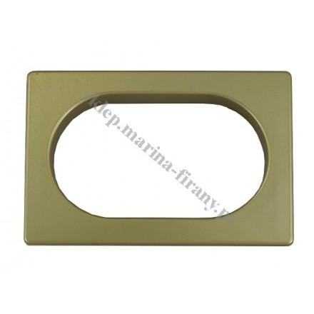 Przelotka uniwersalna PROSTOKĄT duża - kolor mosiądz mat - wymiary wewnętrzne 60 * 35 mm - 10 szt