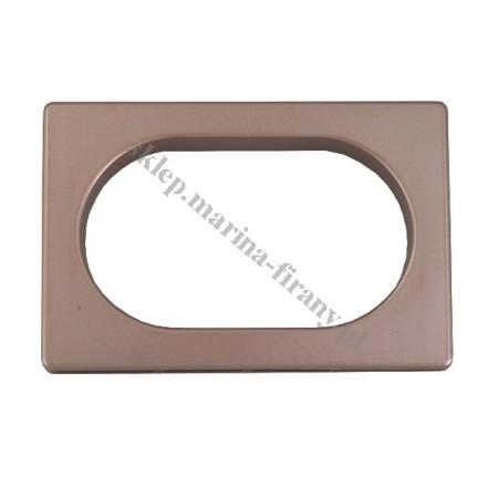 Przelotka uniwersalna PROSTOKĄT duża - kolor miedź mat - wymiary wewnętrzne 60 * 35 mm - 10 szt
