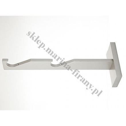 Wspornik gral SLIM podwójny do rury lub do profila 19 mm - chrom mat