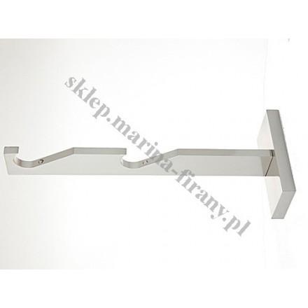 Wspornik gral SLIM podwójny do rury lub do profila 19 mm - efekt stali