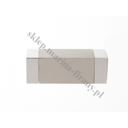 Końcówka Gral fi 16 chrom - chrom mat - Kwadro (Para)
