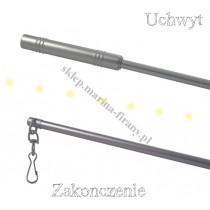 Metalowy patyk do przesuwania firan - kolor chrom/mat 100 cm