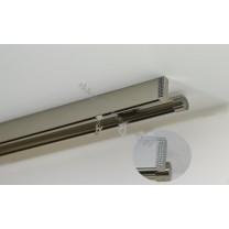Szyna sufitowa Modern / Techno podwójny inox z krysztłkami Swarovskiego (SUW0023)