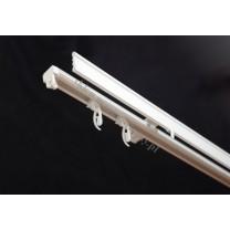 Szyna sufitowa ZS jednotorowa biała ze ślimakami i osłoną (ZS008)