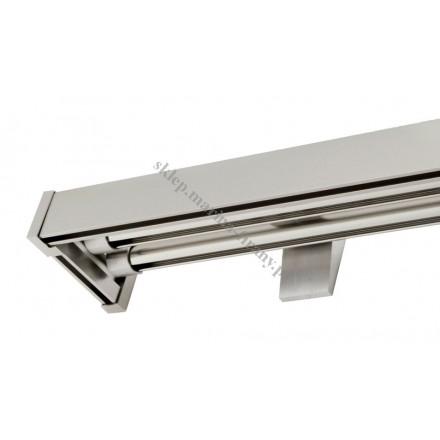Karnisz potrójny szynowy Modern 40 + Techno x 2 inox - aluminium (TH009)