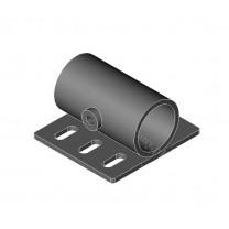 Uchwyt do rolet na wspornik otwarty 10 mm efekt stali - 1 szt