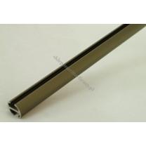 Profil szynowy fi 20 mm dł. 250 cm - antico (aluminium)