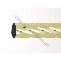 Drążek twister Gral fi 25 mosiądz - 160cm