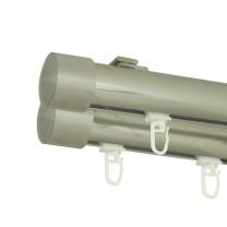 Szyna sufitowa Techno 30 podwójna, inox (SUW0052) - stal nierdz. - aluminium