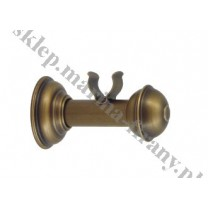 Wspornik pojedynczy gładki Classic 20 mm - antico (mosiądz)