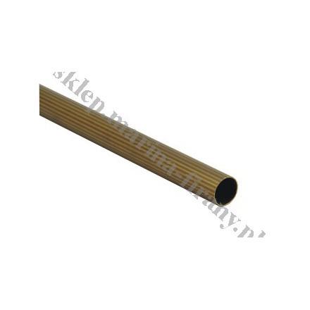Drążek - rura karnisza ryflowana fi 20 mm dł. 150 cm - antico (mosiądz)