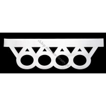 Ażur do firan wzór AZ03 Koła i trójkąty