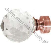 Końcówka Gral fi 25 kolor miedzi - Kula Crystal (Para)