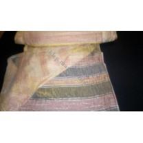 Organtyna kreszowana w kolorze miodowo - beżowym - pasy- szer. 280 cm , cena za 1 mb - wyprzedaż
