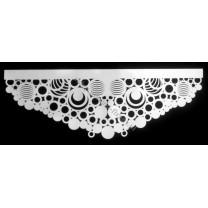 Ażur do firan, wzór Kółka kreatywne , szer. 80 cm, biały, dwuwarstwowy - odrzut nr 25