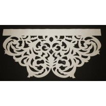 Ażur do firan, wzór AZ01 Gobelin, szer. 100 cm, ecru - kremowy, czterowarstwowy - odrzut nr 29