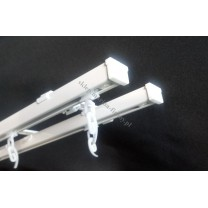 Szyna sufitowa MS1 dwutorowa biała ze ślimakami (MS003)