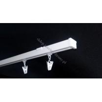 Szyna sufitowa MS1 jednotorowa biała z żabkami (MS006)