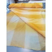 Organtyna kreszowana w kolorze miodowo - złotym - pasy- szer. 280 cm , cena za 1 mb - wyprzedaż