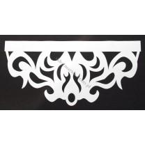 Ażur do firan, wzór Royal, szer. 80 cm, biały, czterowarstwowy - odrzut nr 34