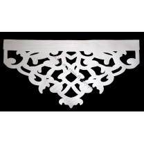 Ażur do firan, wzór Hero, szer. 60 cm, biały, czterowarstwowy - odrzut nr 38