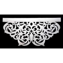 Ażur do firan, wzór AZ01 Gobelin, szer. 50 cm, biały, czterowarstwowy - odrzut nr 42