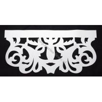 Ażur do firan, wzór Modern, szer. 60 cm, biały, czterowarstwowy - odrzut nr 45