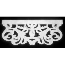 Ażur do firan, wzór Modern Premium, szer. 70 cm, biały, czterowarstwowy - odrzut nr 46