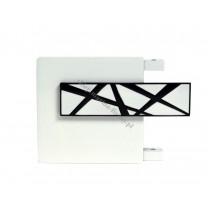 Końcówka TOP LINE - Galaxy - kolor biały połysk - biały bł - czarny bł (para)
