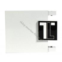 Końcówka TOP LINE - Logo - kolor biały połysk - czarny bł - biały bł (para)