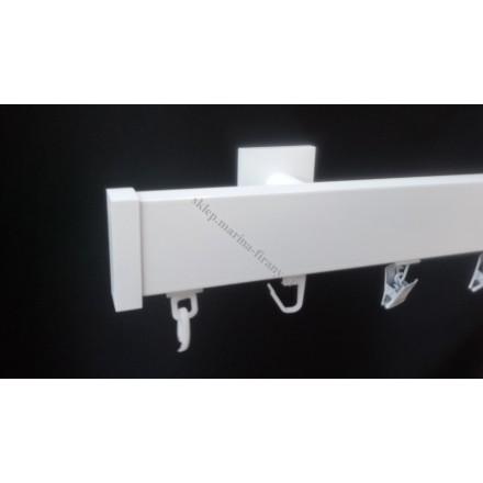 Karnisz szynowy pojedynczy Modern 40 biały (TH006)