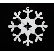 Zawieszka ażurowa biała Śnieżka