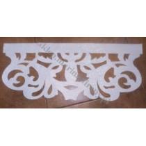 Ażur do firan wzór Modern w wersji Premium szer. 69,50 cm, biały połysk, czterowarstwowy - odrzut nr 50
