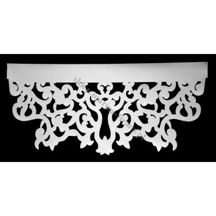 Ażur do firan wzór Arras szer. 70 cm, biały, czterowarstwowy - odrzut nr 52