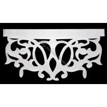 Ażur do firan, wzór Central , szer. 70 cm, biały, czterowarstwowy - odrzut nr 53