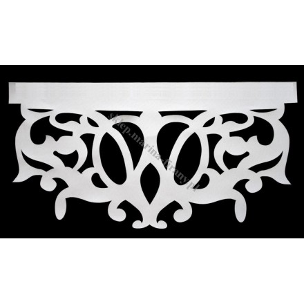 Ażur do firan, wzór Central , szer. 60 cm, biały, czterowarstwowy - odrzut nr 54
