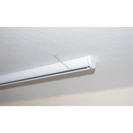 Szyna sufitowa Techno 15 jednotorowa biała bez ślizgów (STH15-01)