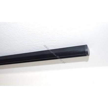 Szyna sufitowa Techno 15 jednotorowa czarna półmat bez ślizgów (STH15-03)