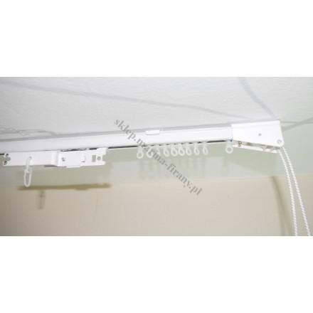Szyna sufitowa MS1C jednotorowa biała ze sterowaniem sznurkowym (MS007)