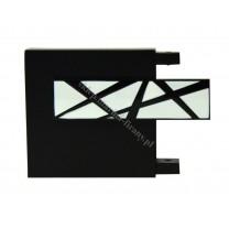 Końcówka TOP LINE - Galaxy - kolor czarny mat - biały bł - czarny bł (para)