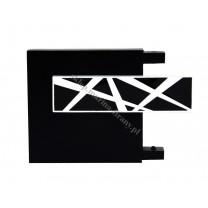 Końcówka TOP LINE - Galaxy - kolor czarny mat - czarny błysk - biały błysk (para)