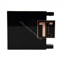 Końcówka TOP LINE - Logo - kolor czarny mat - czarny błysk - miedź (para)